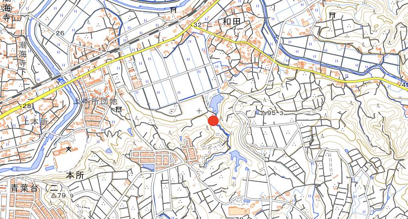 和田公園敷地周辺図