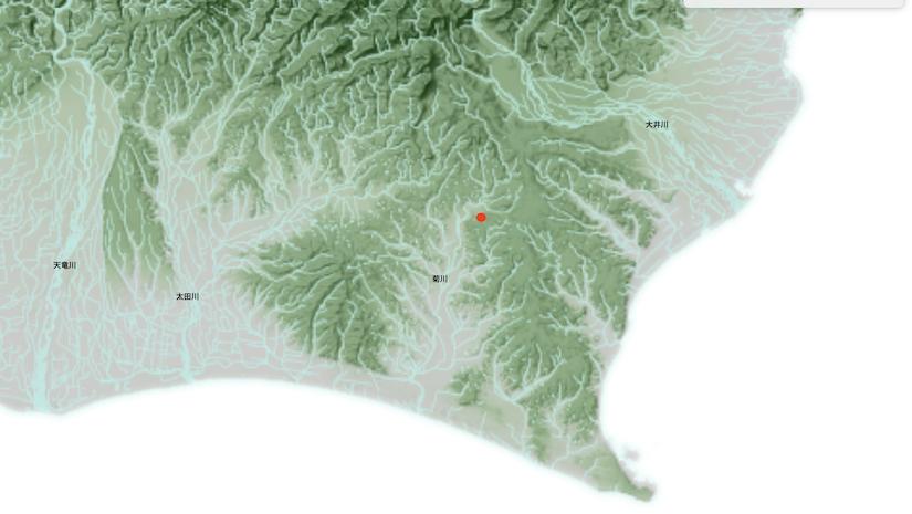 和田公園 川だけ地図望遠