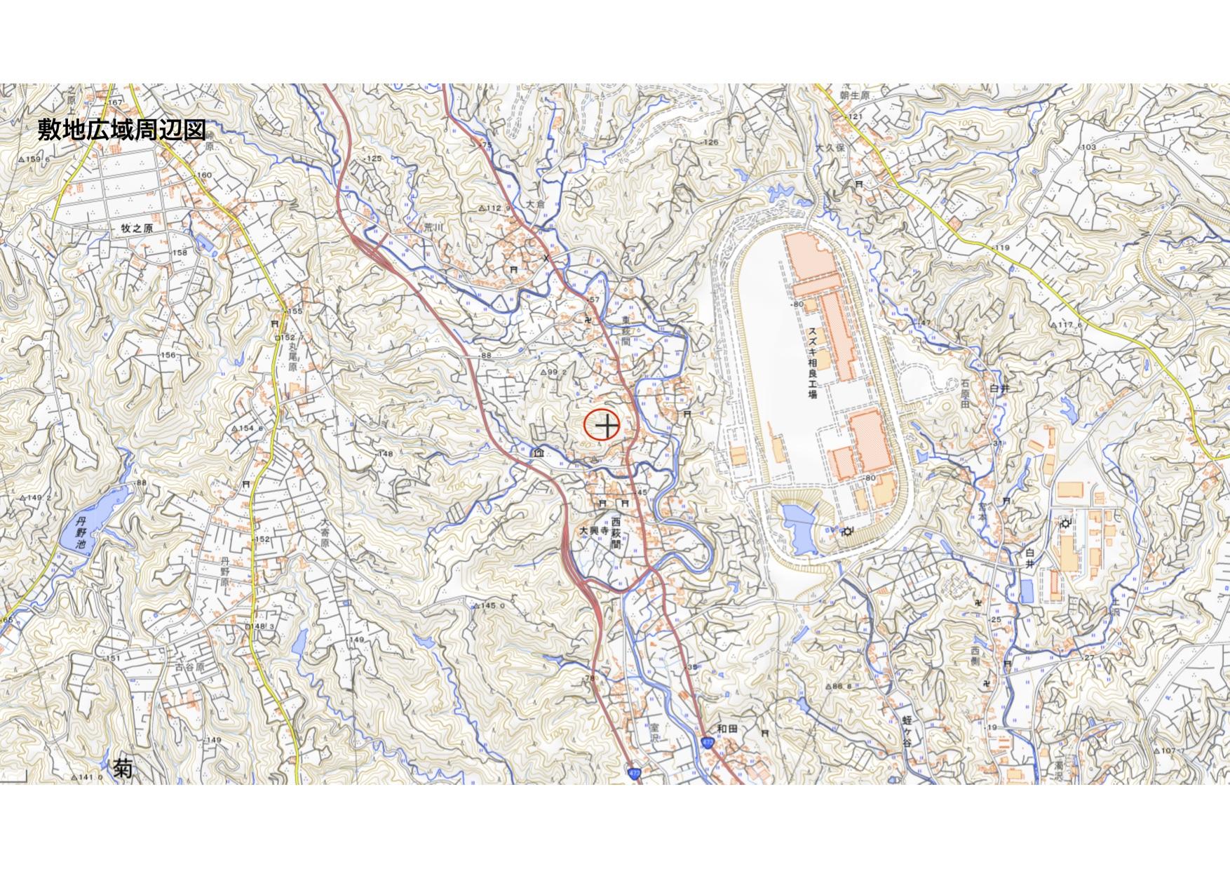 敷地広域周辺図