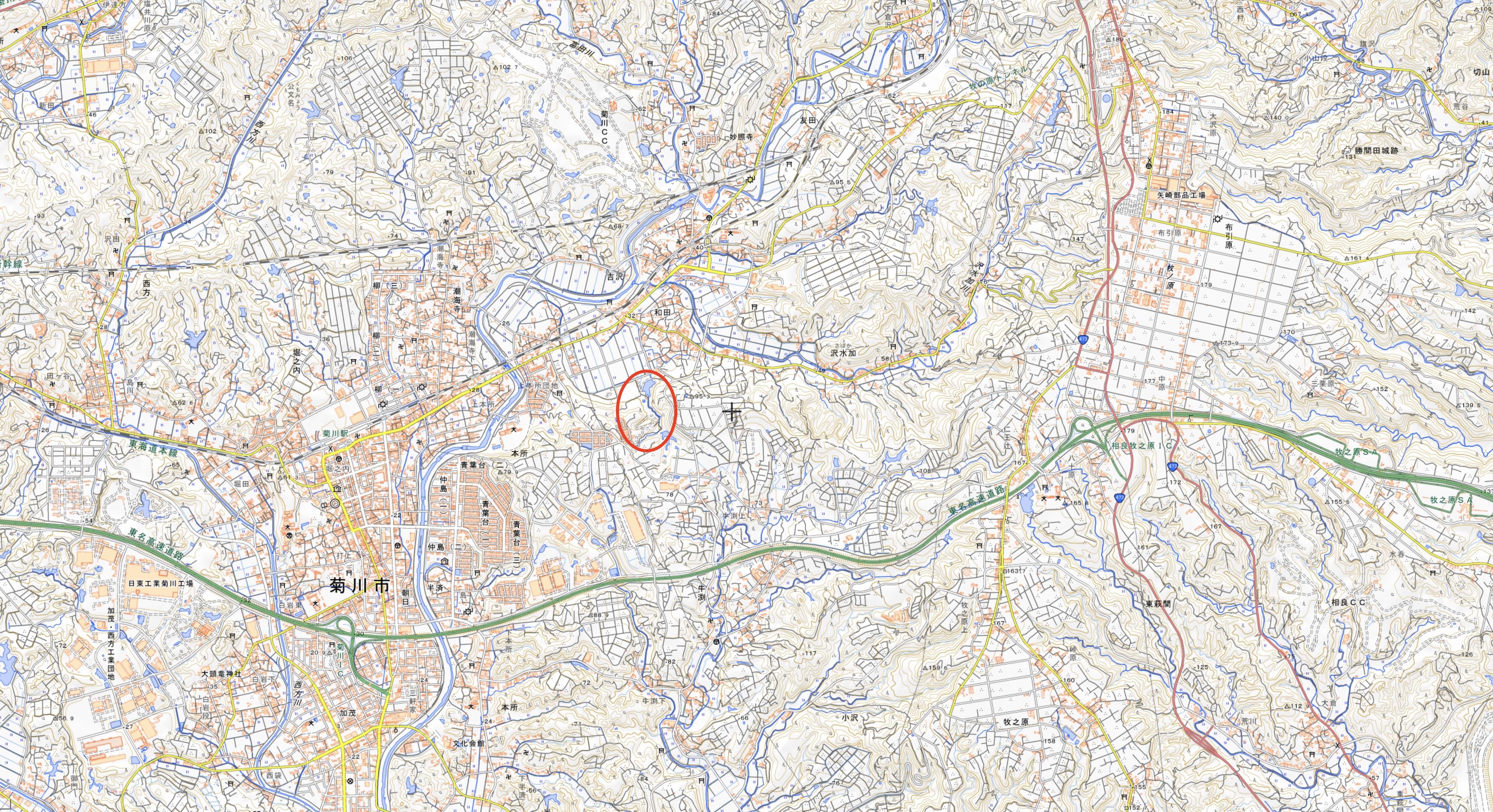 敷地広域周辺図のコピー