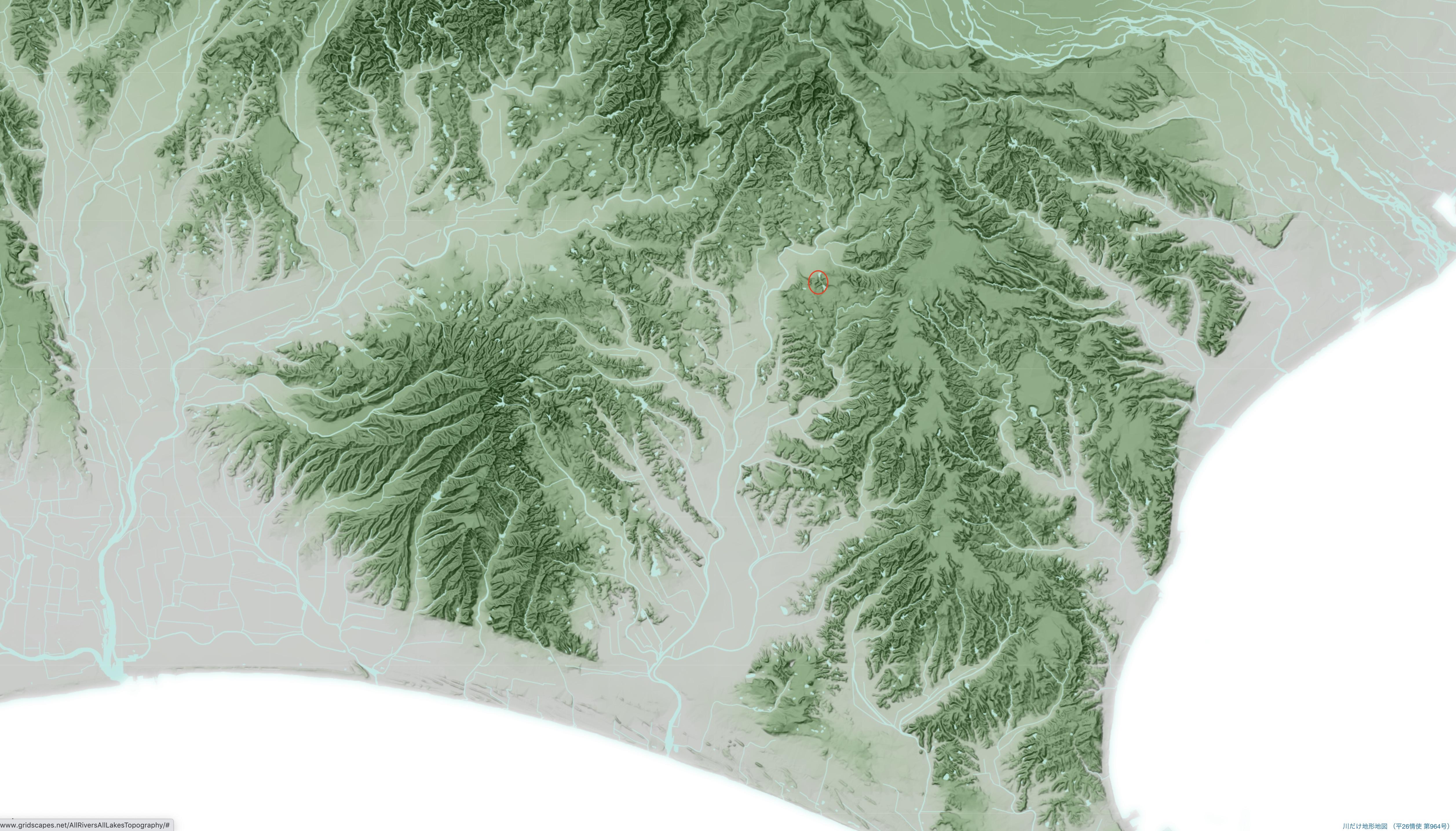 流域図のコピー