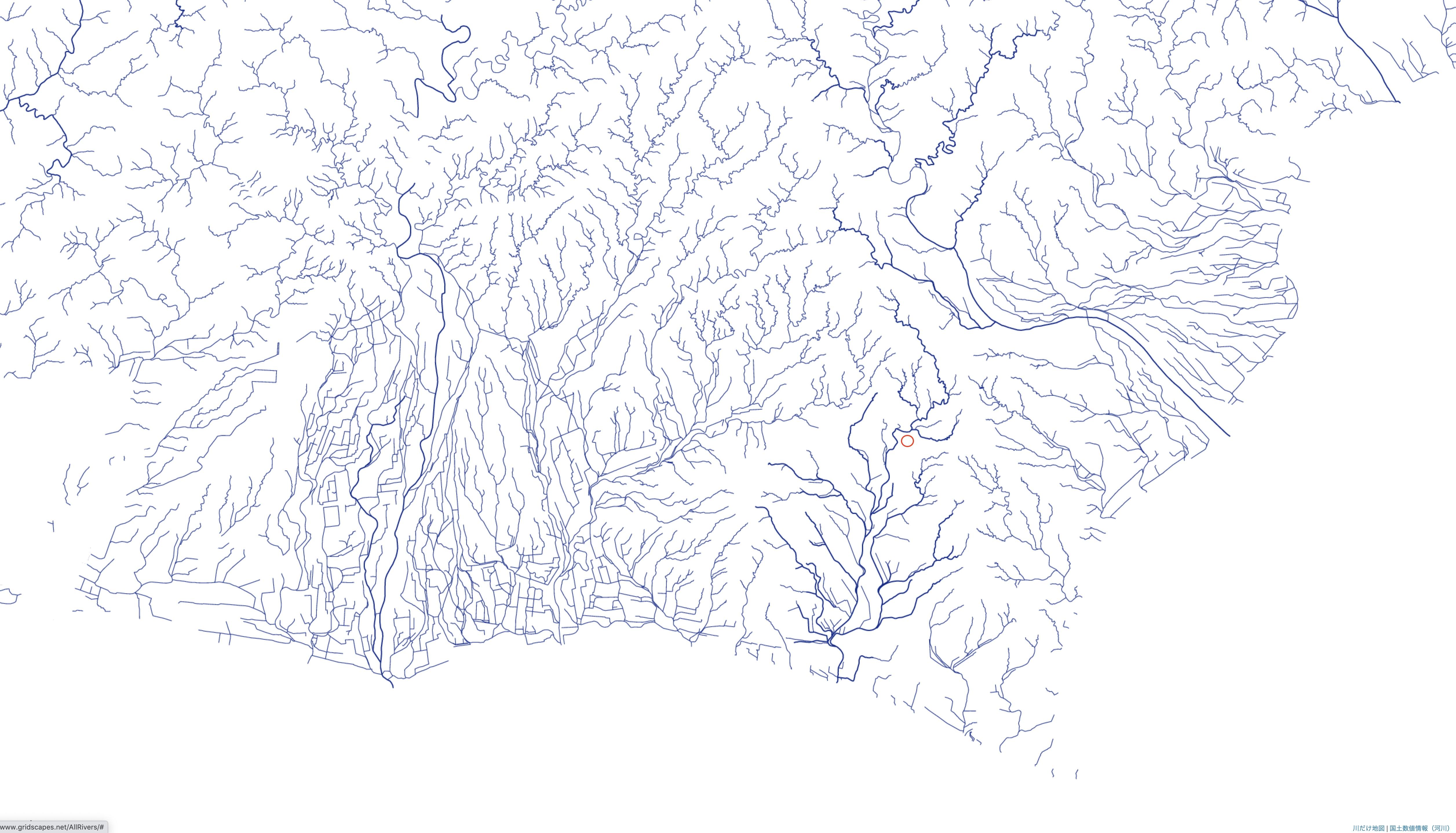 地形水系図のコピー